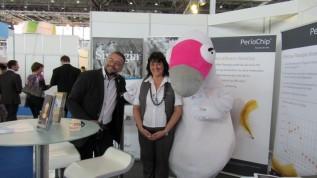 Das PerioChip®-Team auf der Fachdental Leipzig