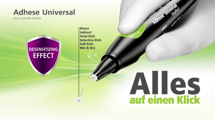 Adhese Universal – Wirkungsprinzip des Einkomponenten-Adhäsiv
