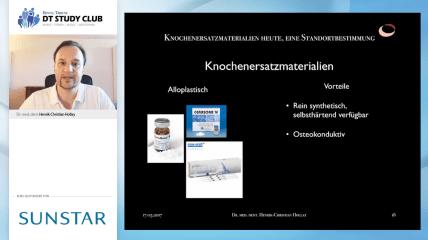 Sunstar Webinar: Knochenersatzmaterialien heute, eine Standortbestimmung