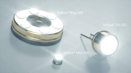 Überblick möglicher Designs für autoklavierbare SCHOTT Solidur® LEDs