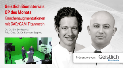 "Video des Geistlich Live-Tutorials ""Knochenaugmentation mit CAD/CAM-Titanmesh"""